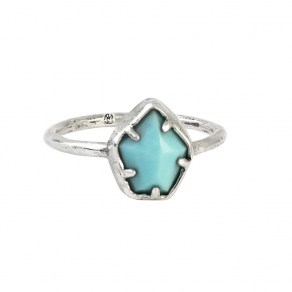 Waxing Poetic Grounding Ring - Turquoise - Sterling Silver