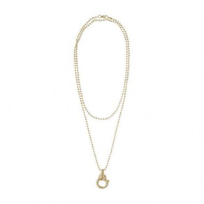Waxing Poetic Collector Charm Catcher Necklace - Brass 71cm