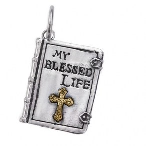 Waxing Poetic Biographies Charm - My Blessed Life - Sterling Silver/Brass