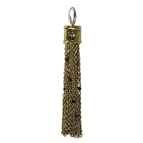 Waxing Poetic Capella Tassel - Brass, Sterling Silver and Black Onyx