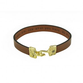 Waxing Poetic Close Counsel Bracelet - Brass - Small