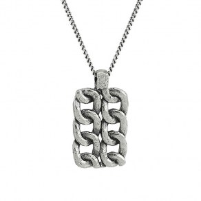 Waxing Poetic Chain Tag Necklace - Sterling Silver - 61cm