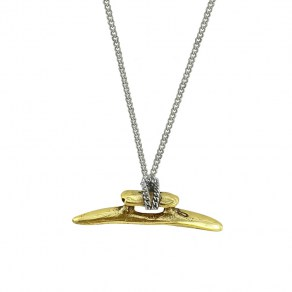 Waxing Poetic Boat Cleat Chain Necklace - Sterling Silver & Brass - 61cm