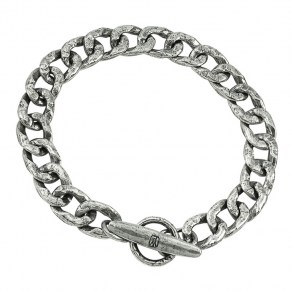 Waxing Poetic Boat Cleat Chain Bracelet - Sterling Silver - Large
