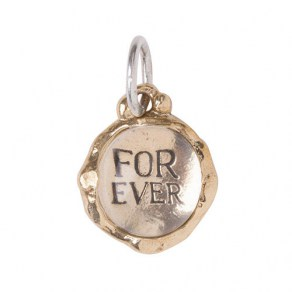Waxing Poetic Clarus Charm - Forever- Brass & Glass