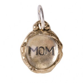 Waxing Poetic Clarus Charm - Mom - Brass & Glass