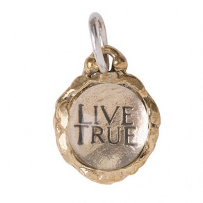 Waxing Poetic Clarus Charm - Live True - Brass & Glass