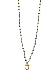 Waxing Poetic Connexion Necklace - Brass & Pyrite - 91cm