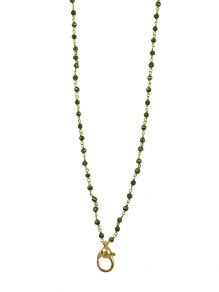 Waxing Poetic Connexion Necklace - Brass & Spinel - 91cm