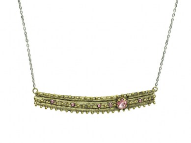 Waxing Poetic Desert Rose Necklace - Brass, Sterling Silver & Swarovski Crystals