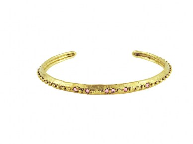Waxing Poetic Desert Rose Small Cuff - Brass & Swarovski Crystals