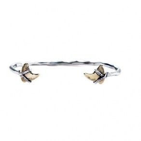 Essence Of Life Bangle Sterling Silver & Brass 2-3/ 10,1cm Diameter