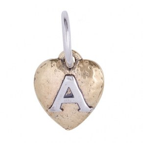 Waxing Poetic HEARTSWELL INSIGNIA - A - Sterling Silver & Brass