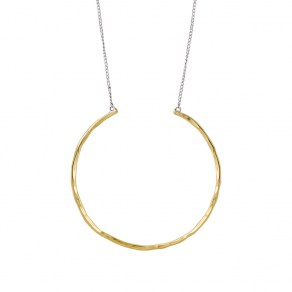 Waxing Poetic Hold Space Circle Necklace