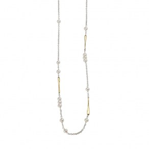 Waxing Poetic Lume Chain - Freshwater Pearl - 76cm