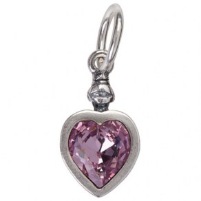 Lux Vitae Love Charm - Light Amethyst - Sterling  Silver and  Light Amethyst Swarovski
