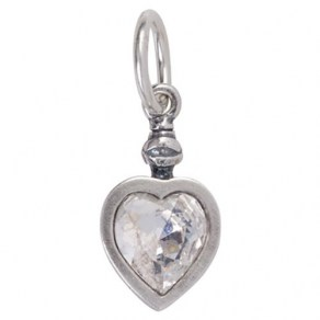 Lux Vitae Love Charm - Crystal - Sterling  Silver and  Crystal Swarovski