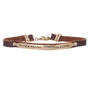 Waxing Poetic AXIOM BAND BRACELET - Place trust in faith