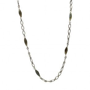 Waxing Poetic Celeste Chain - Sterling Silver, Brass and Labradorite - 71cm