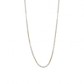 Waxing Poetic Tripper Chain - Sterling Silver and Brass - 45cm