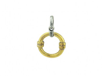 Orbit Charm Catcher - Brass and Sterling Silver