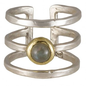 Waxing Poetic Periphery Triple Ring - SS, Brass and Lab