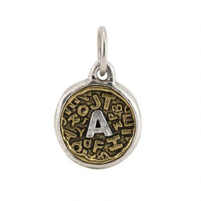 Waxing Poetic Scramble Insignia -A -  Brass & Sterling Silver